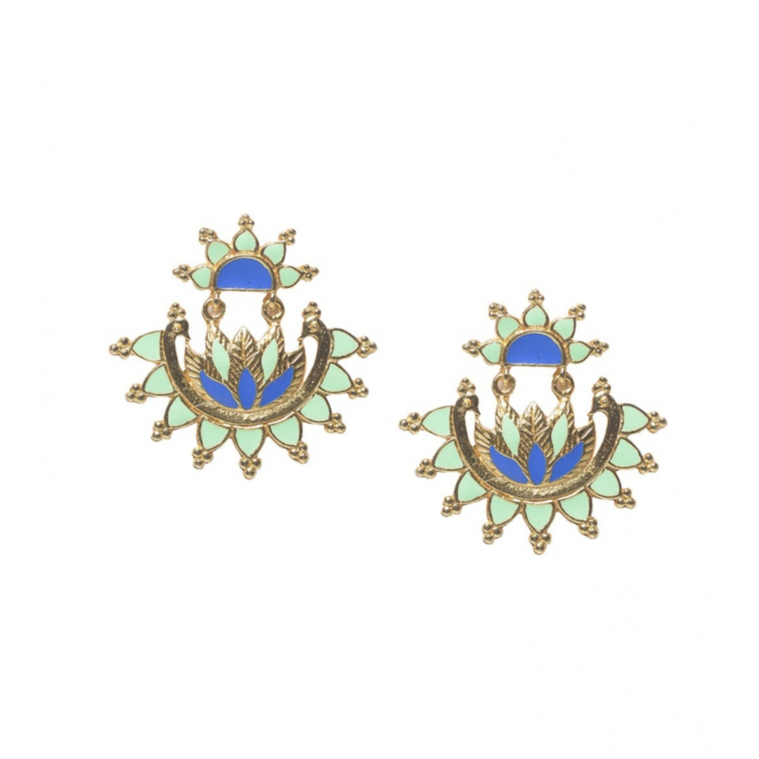 Mint Bloom Earrings