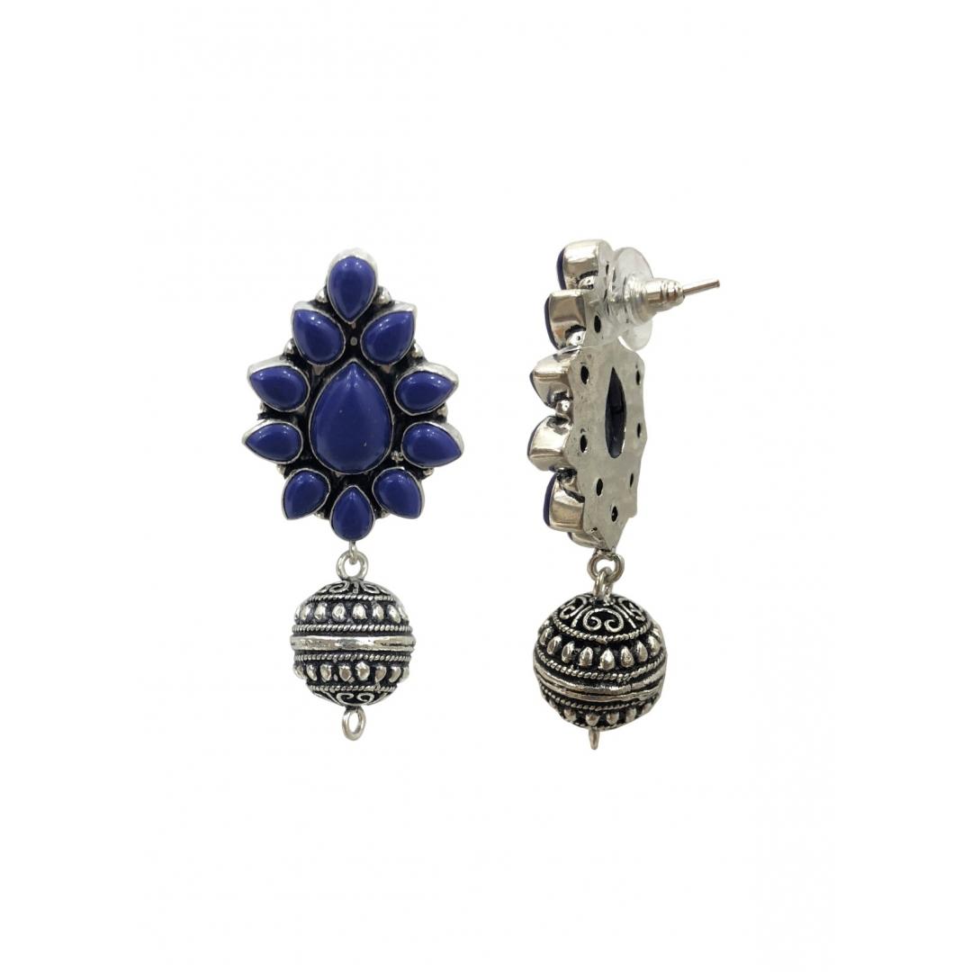 Indigo Globe Drop Earrings