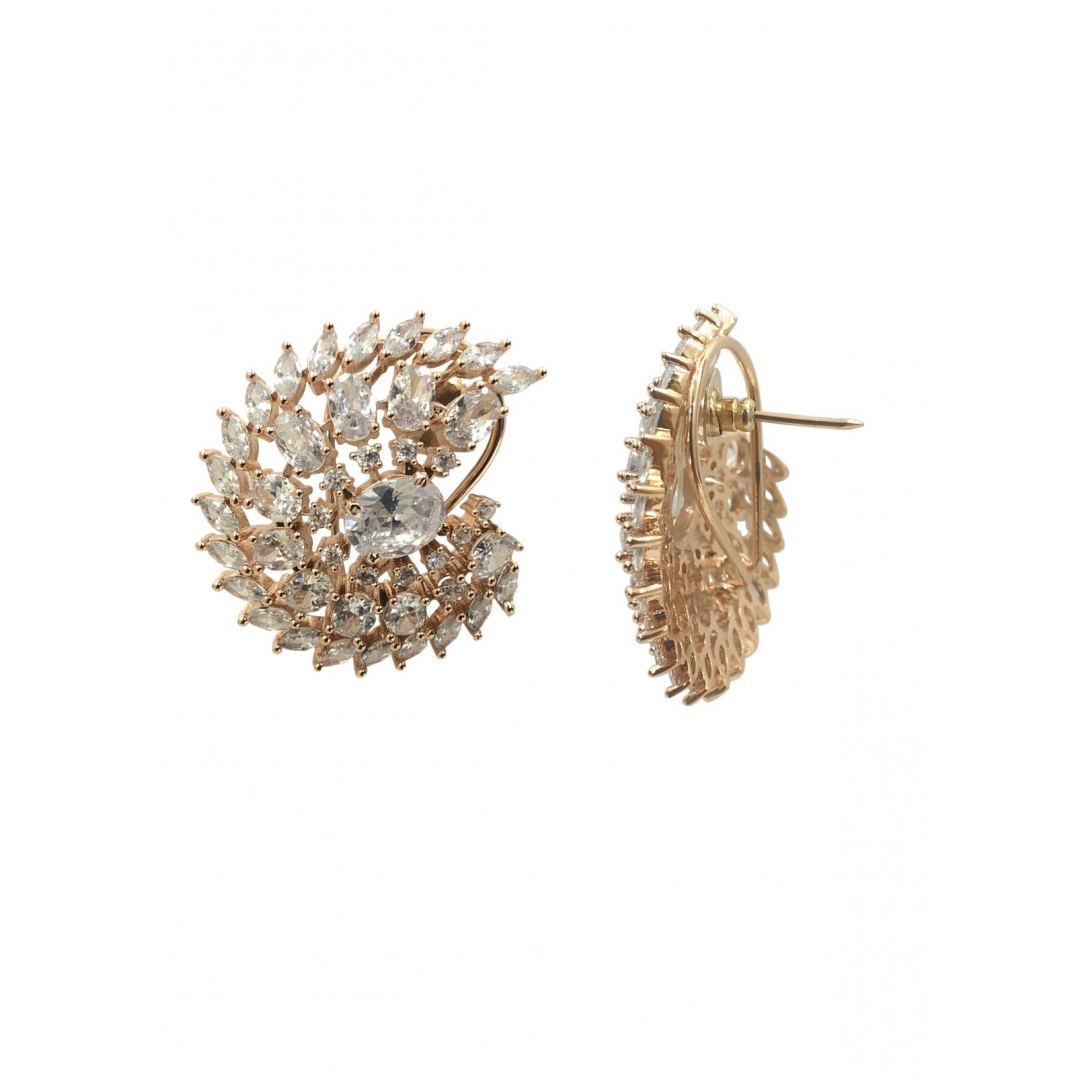 Buy Everlot Rose Gold Earrings Online At Best Price In India Getnatty