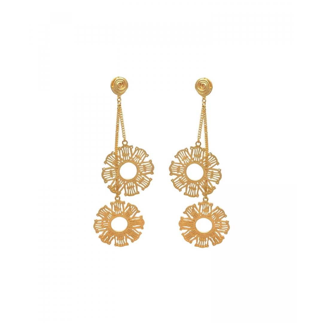 Gigi Gold Floral Earrings