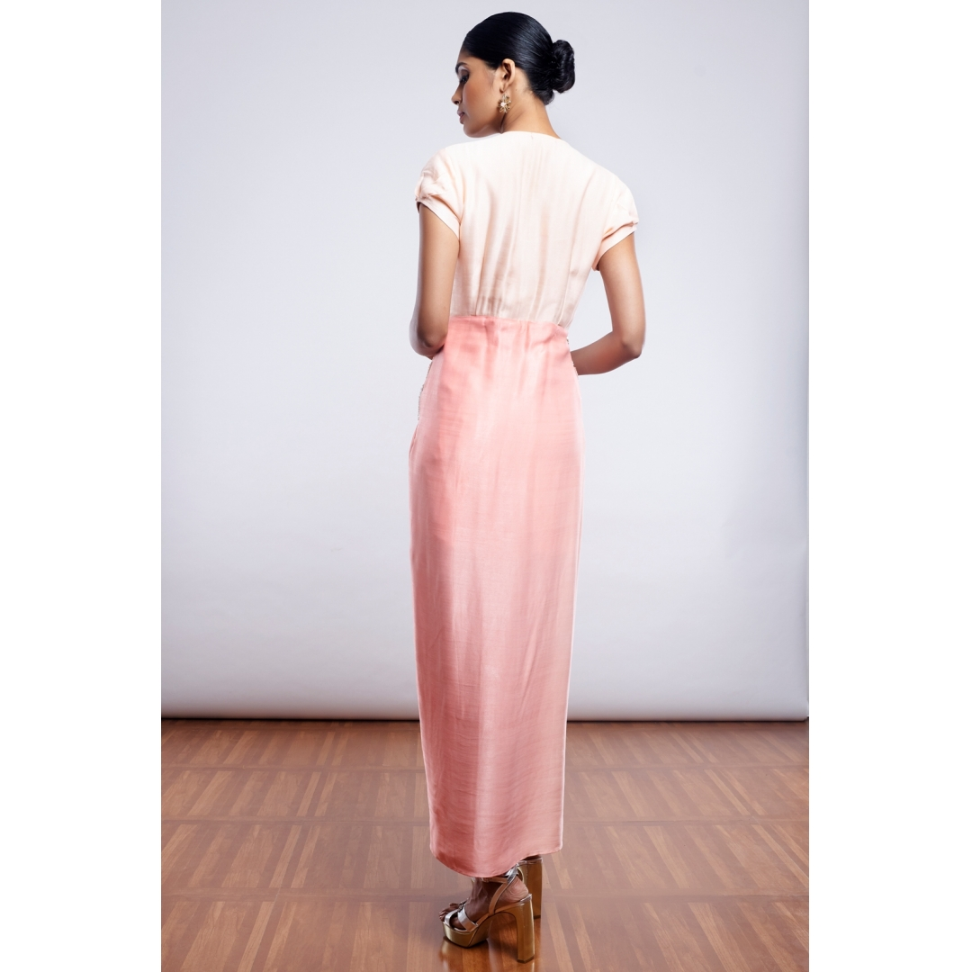 Peach Pink Shaded Dress