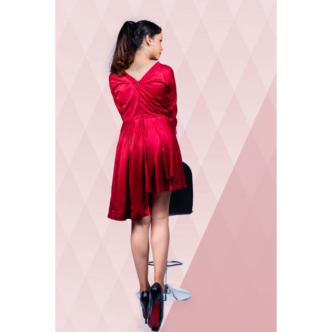 Uneven Hem Short Dress