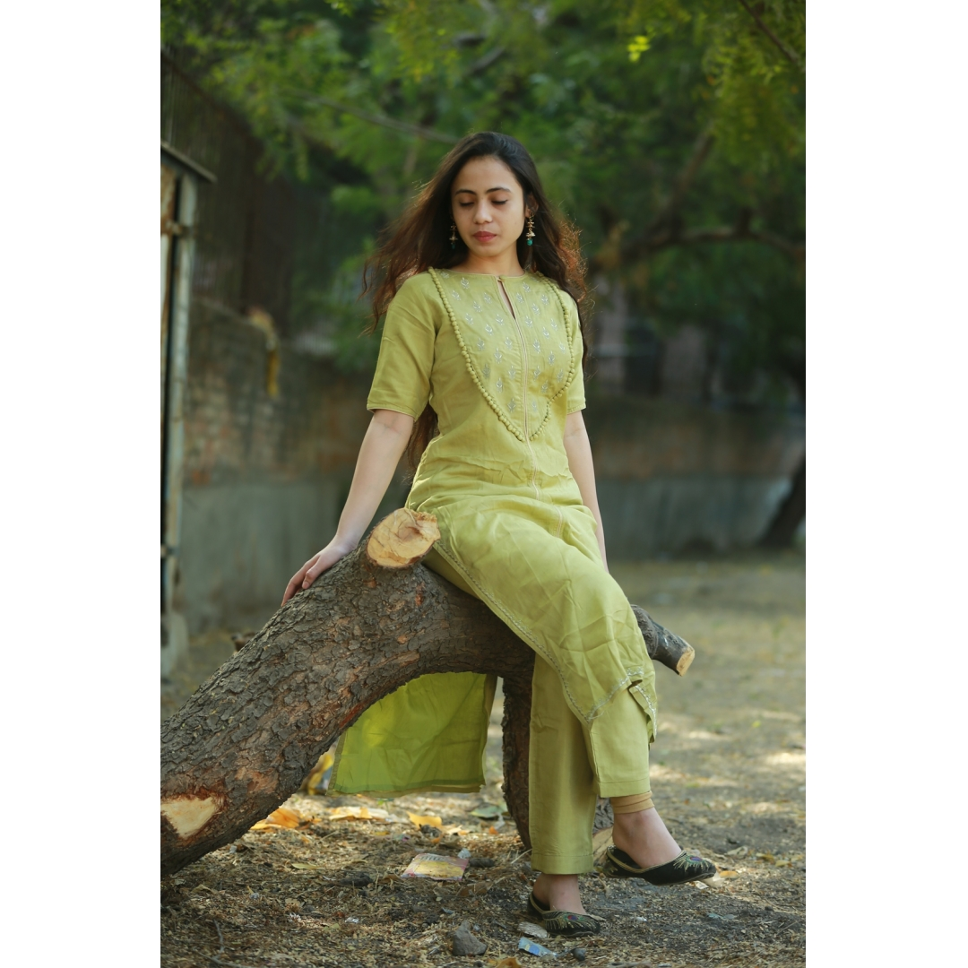 Khadi Silk 2pc dress