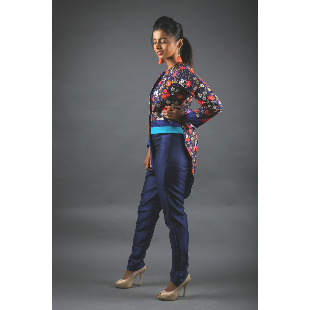 Embroidered Jacket and Pant set