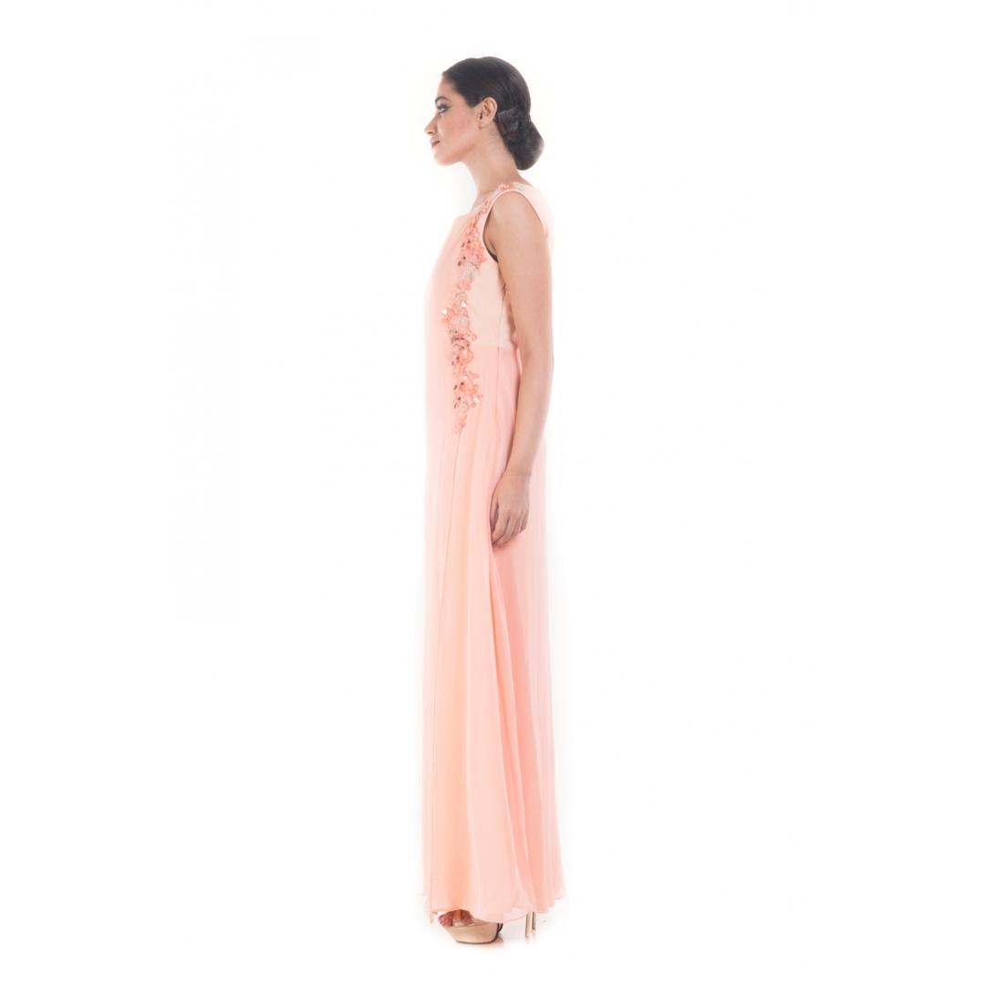 Powder Pink Layered Jumpsuit