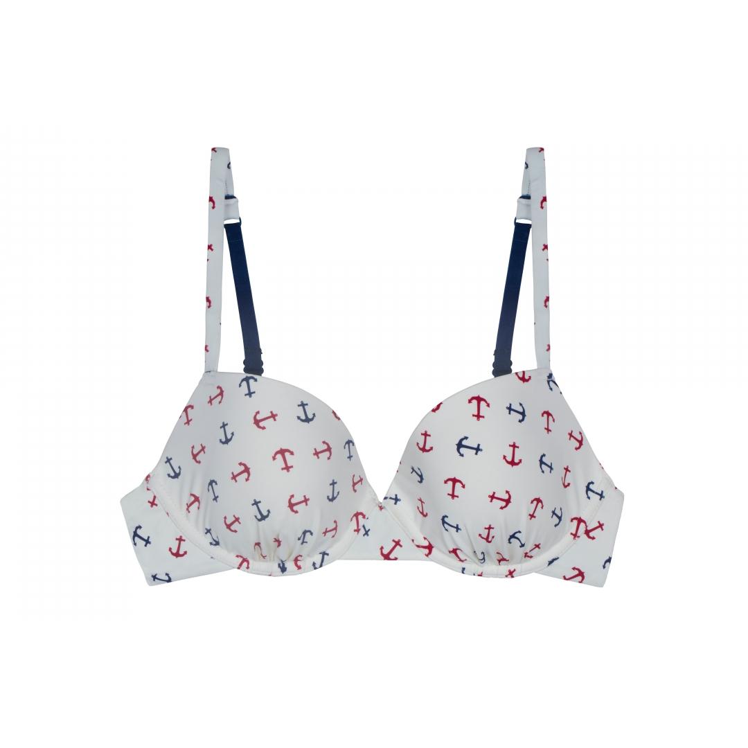 Sail Away with Me- Anchor Print Bikini Top