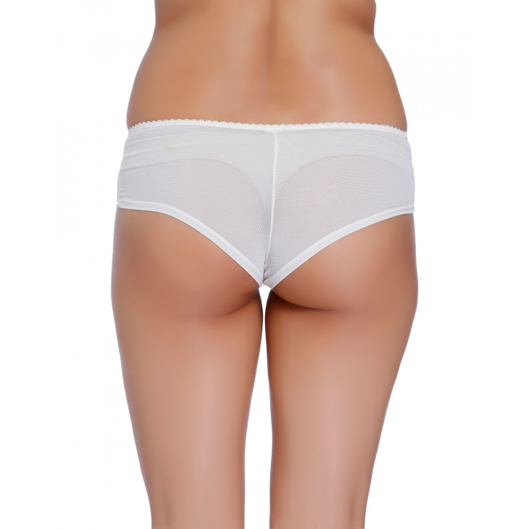 New York Snow-EMBROIDERED MESH SHORTY