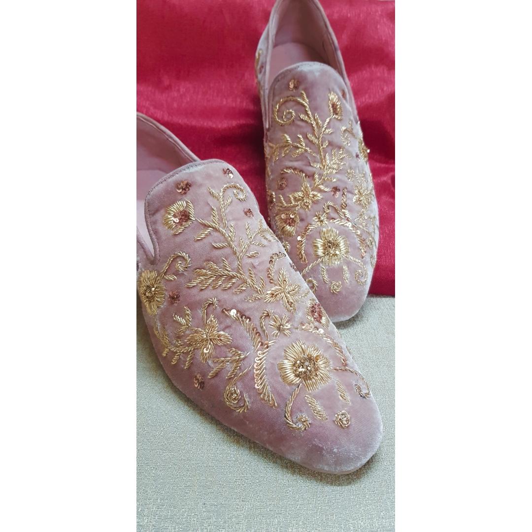 dust Pink Velvet zardozi edition 1