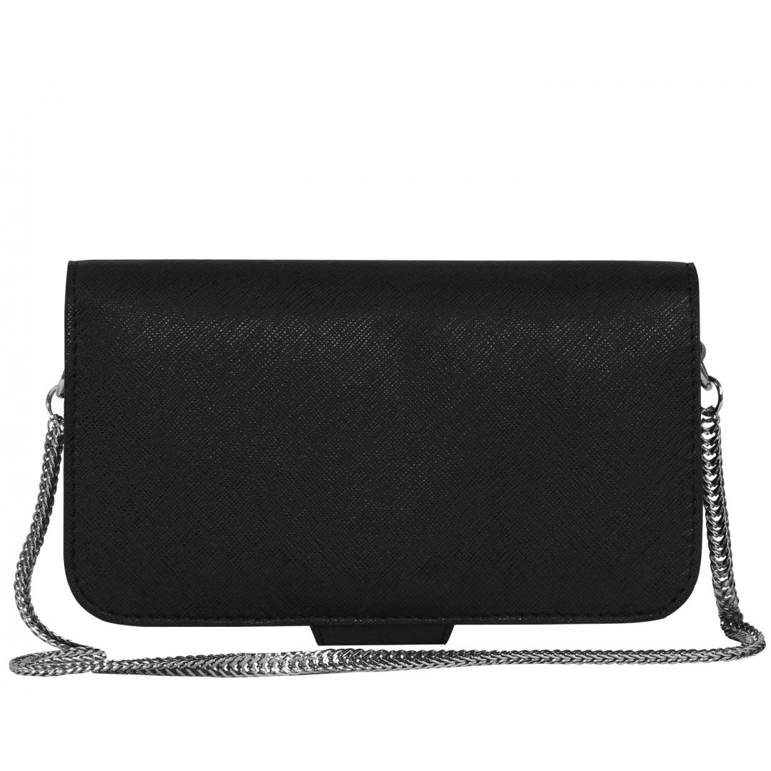 Luxe Ebony Toybee Clutch Bag