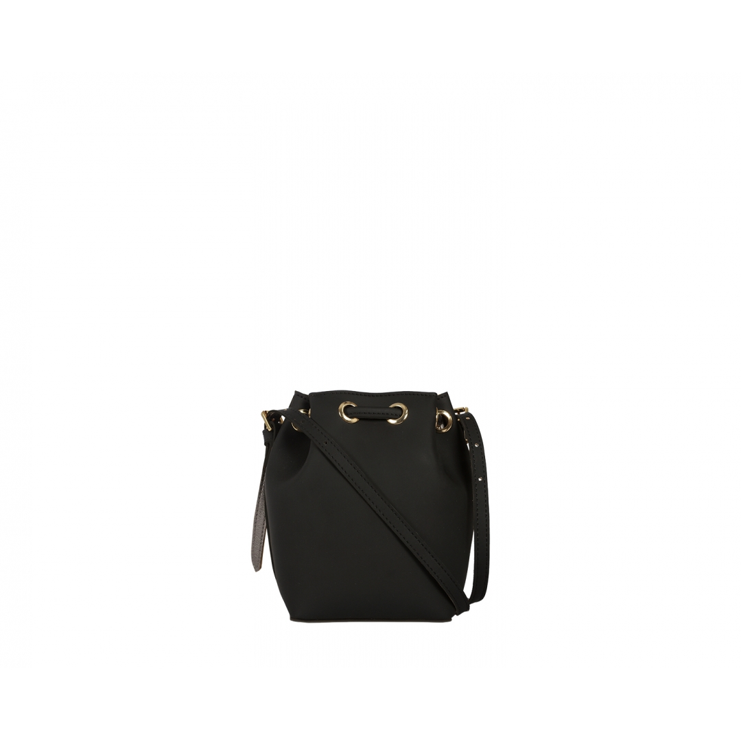 Penny Bucket Bag - Black Silver