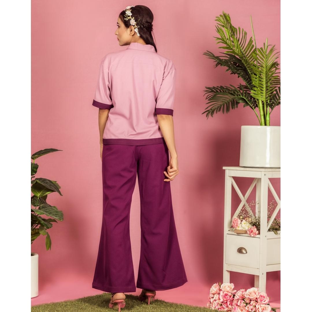 Blackcurrant patch pocket pants