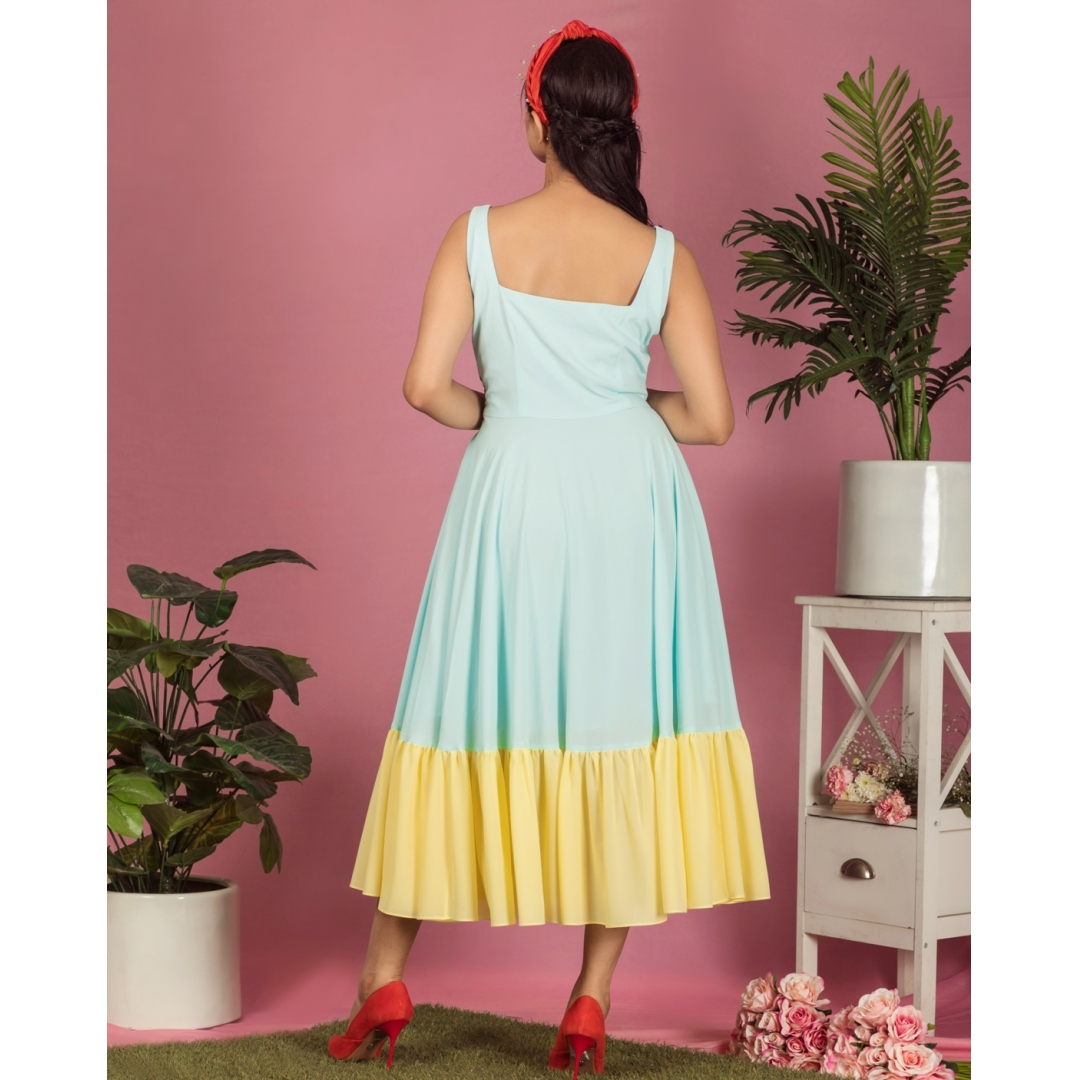 Fish in the pond midi dress