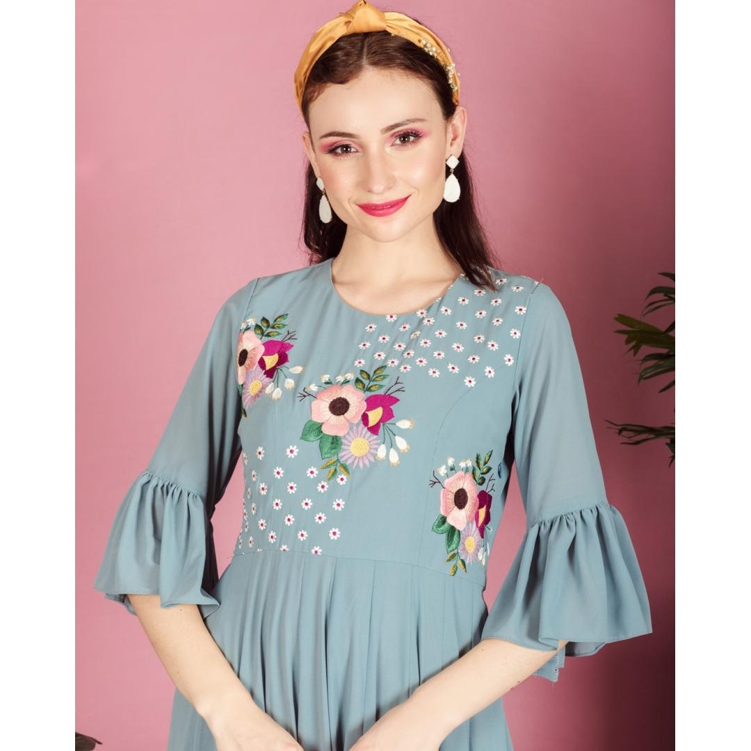 Floral fantasy tunic