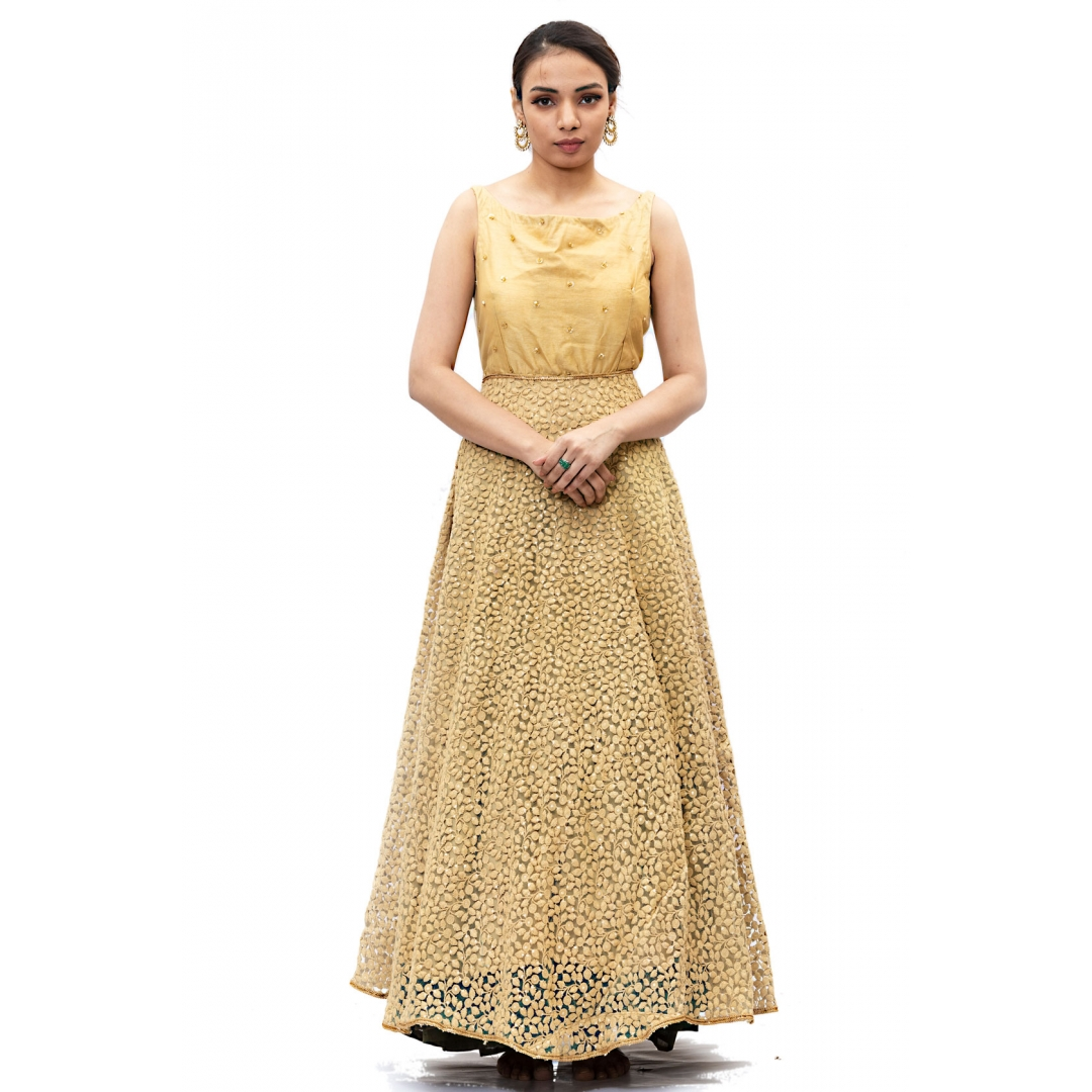 Mustard Yellow Long gown