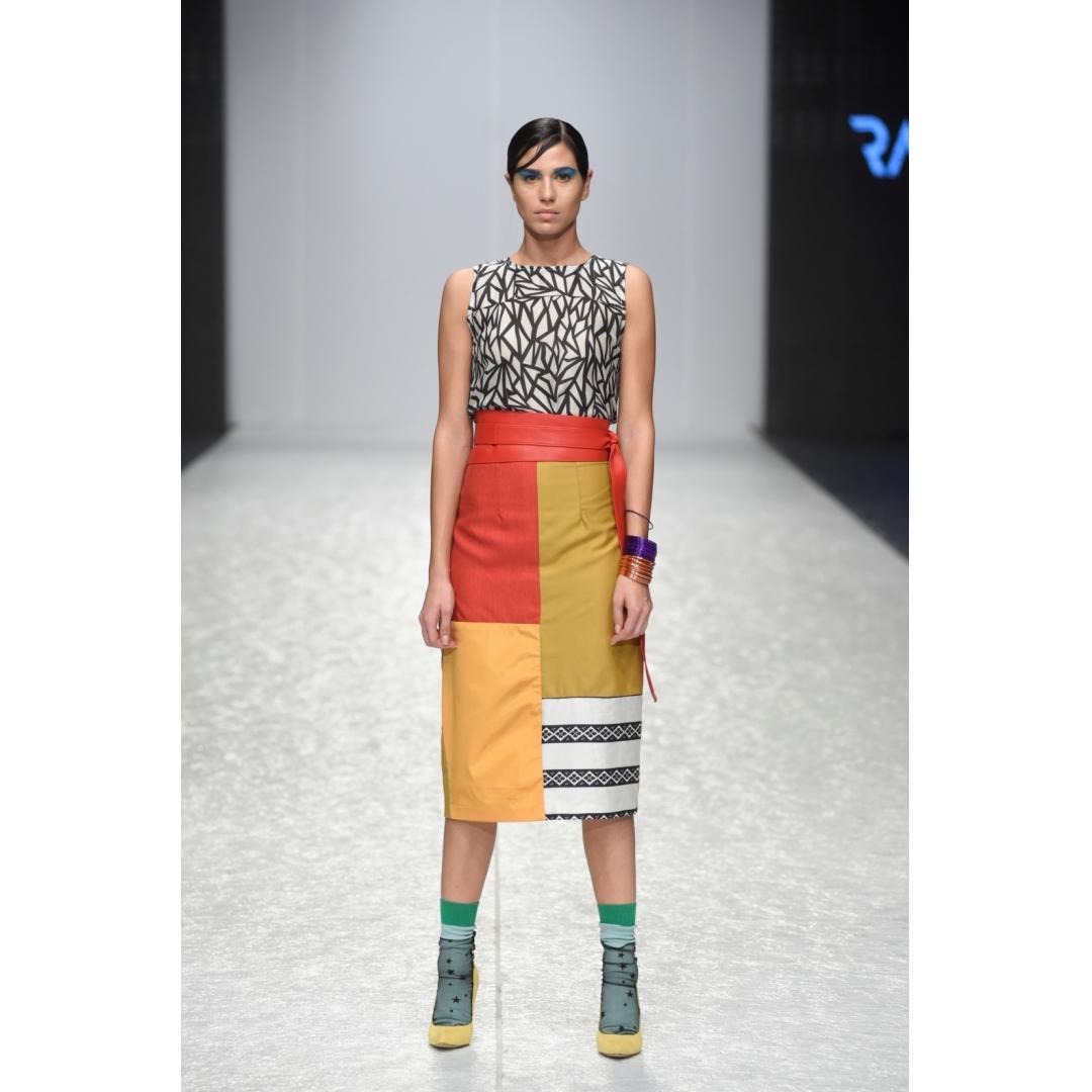 Multi-fabric Skirt