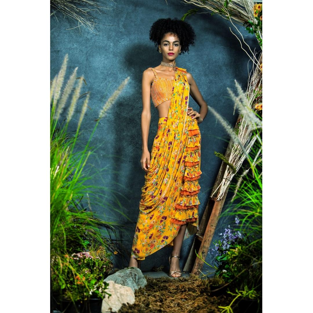 Pre-Draped Lungi Sari