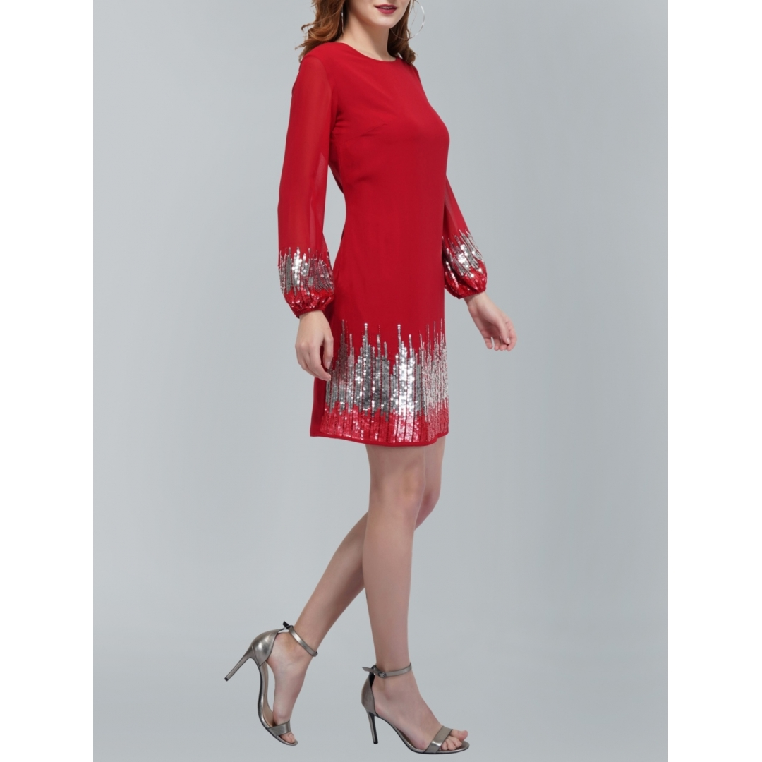 Sunrise Sequin Red Dress