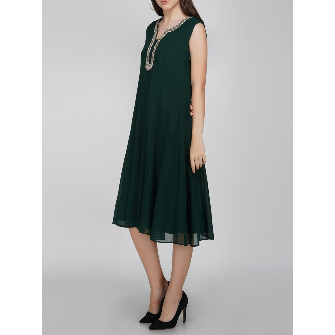 Embellished Neck, Panel Dress