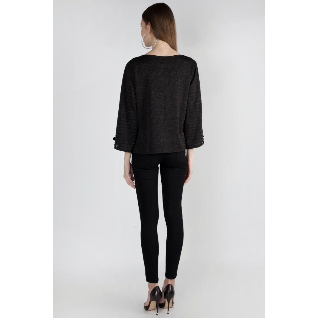 Slitted Sleeve Top