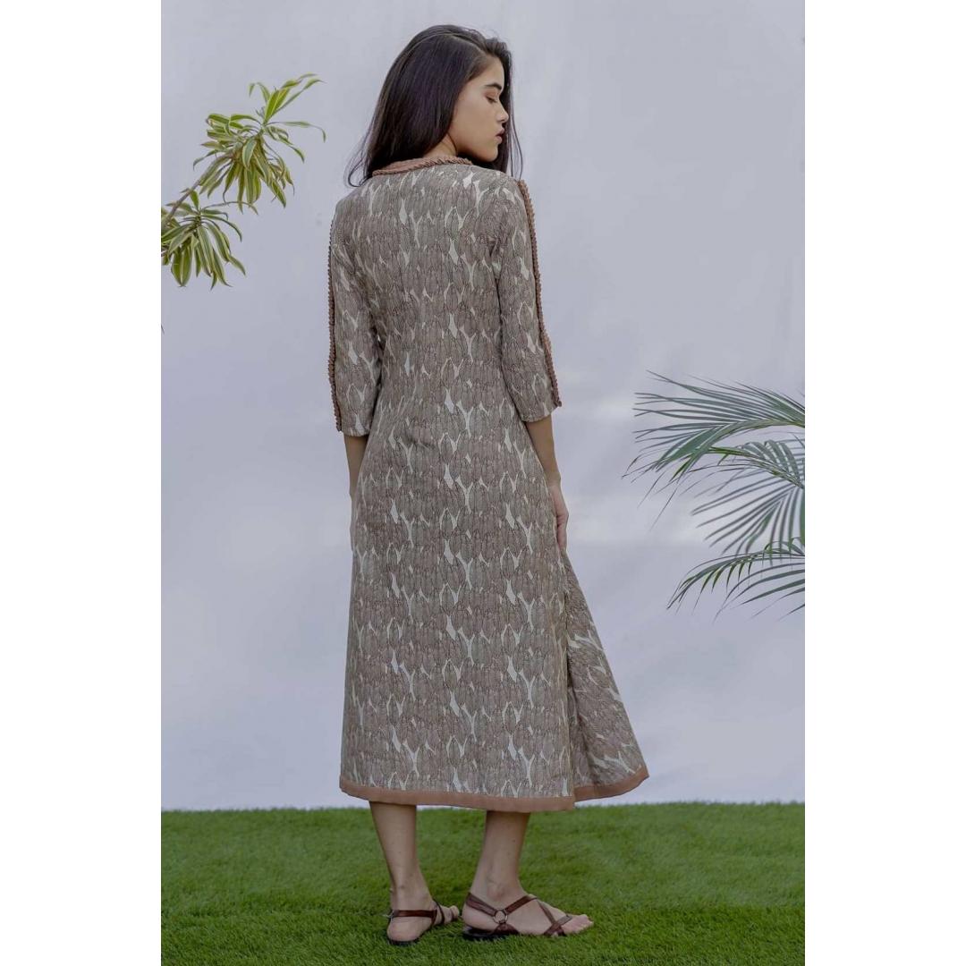 Cotton Leafy  Dress