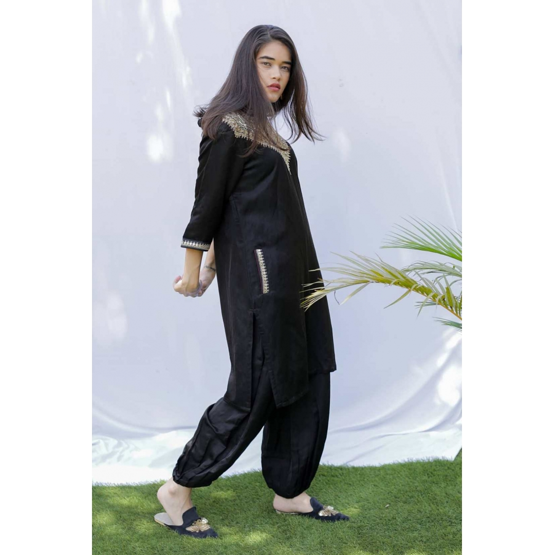 Black Punjabi Kurta with pants