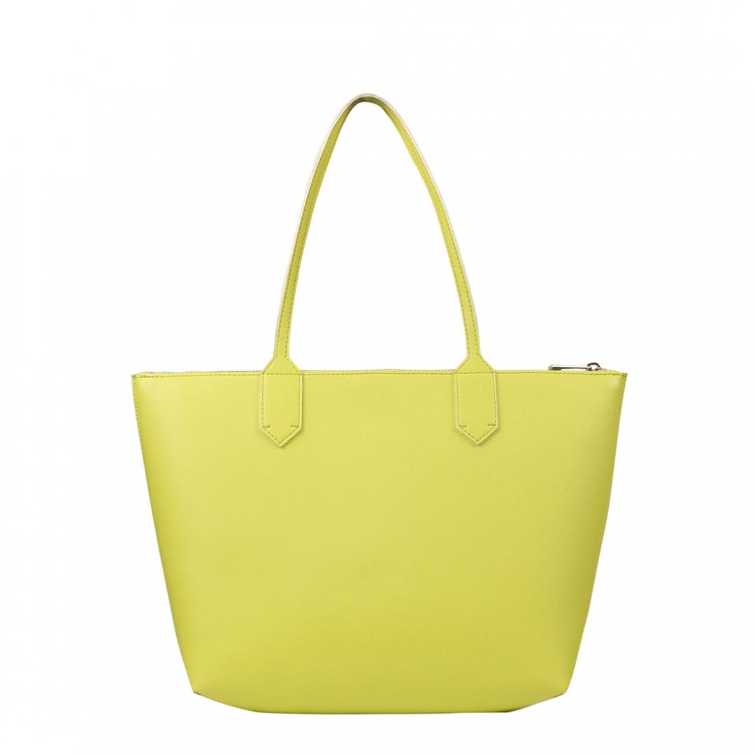 zippy lime medium tote bag