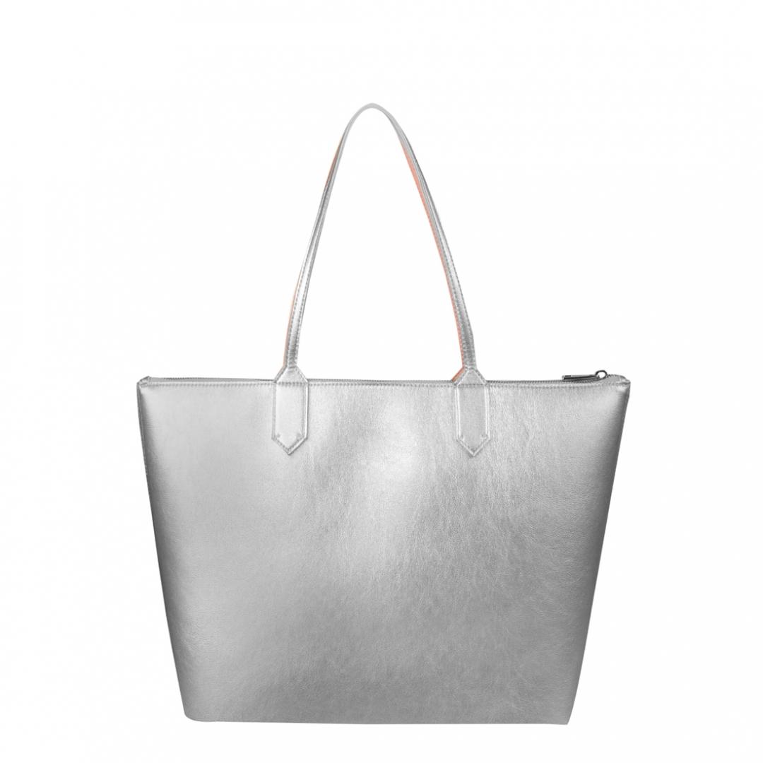 zippy silver medium tote bag