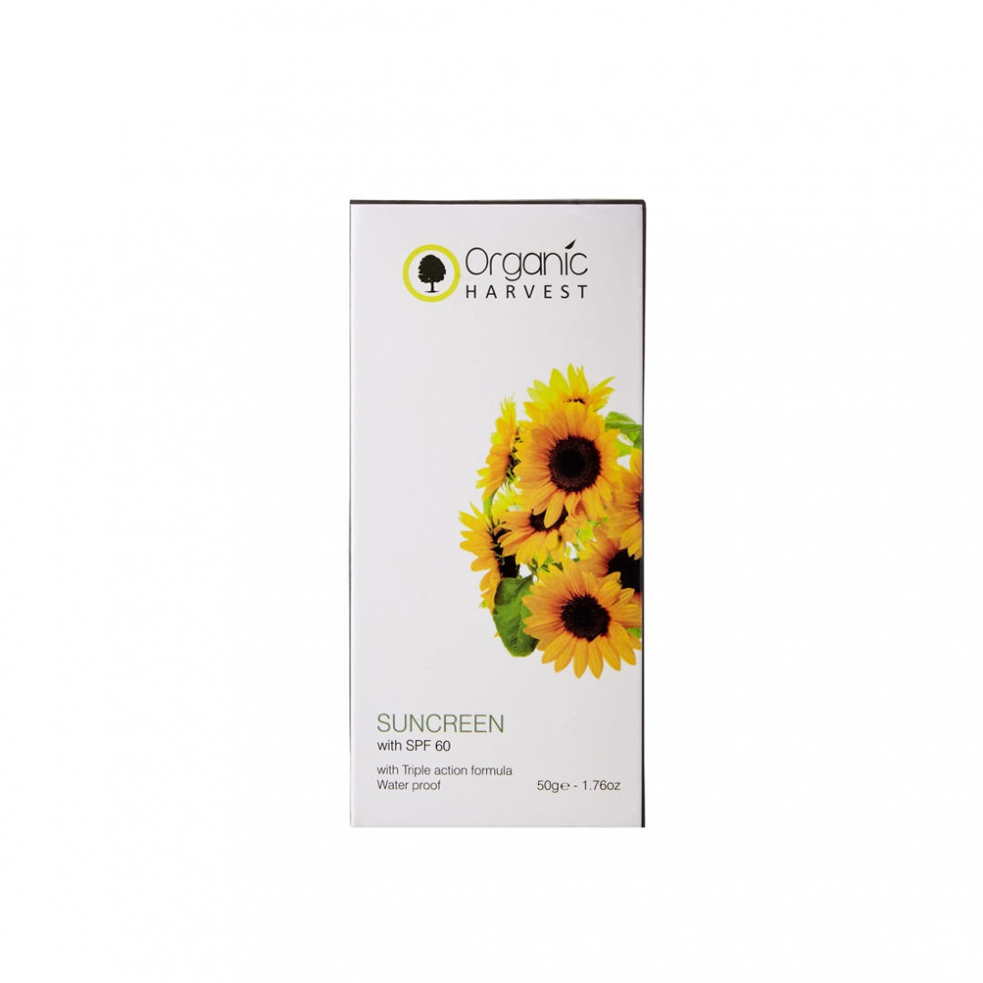 Organic Harvest Sunscreen SPF 60, 50gm
