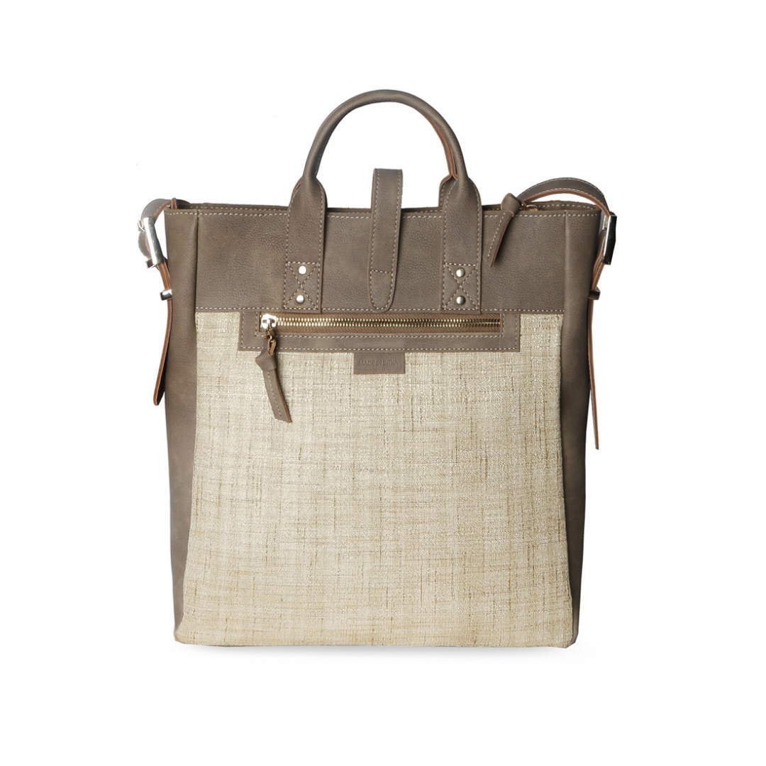 Jute Mini Tote Tan