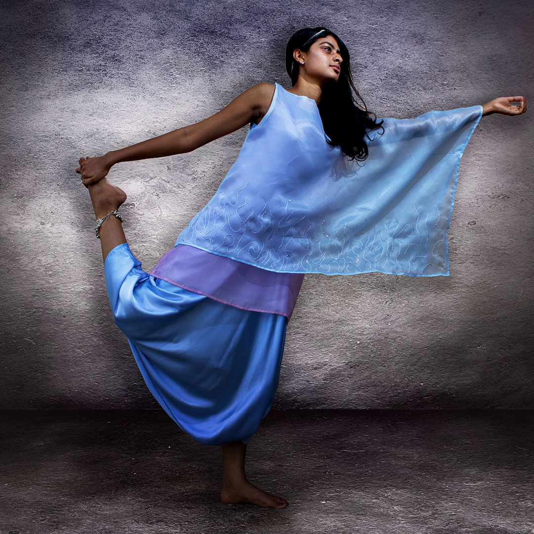 Satin Silk Jumpsuit With A Cape