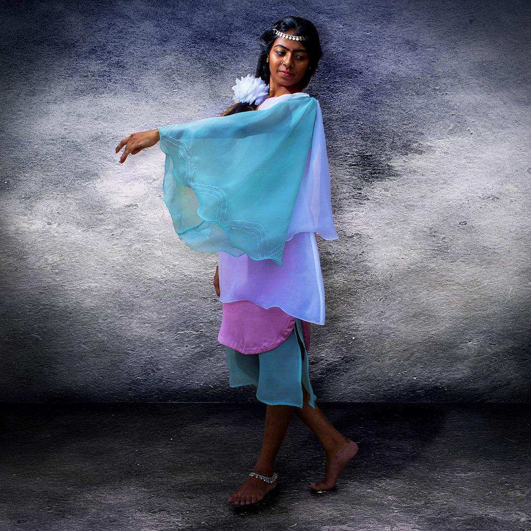 Satin Silk Multilayer Dress