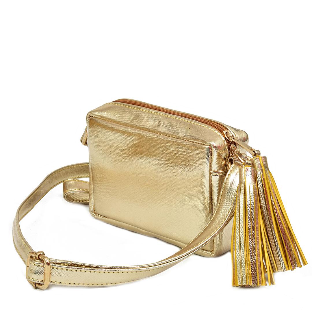 Gold fringe sling