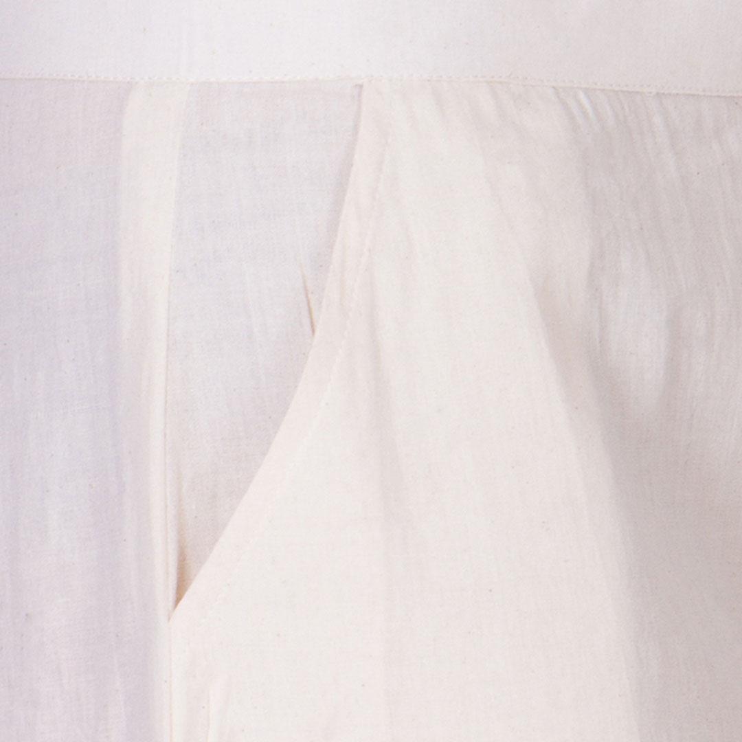 Off White Muslin Crop Palazzo Pants