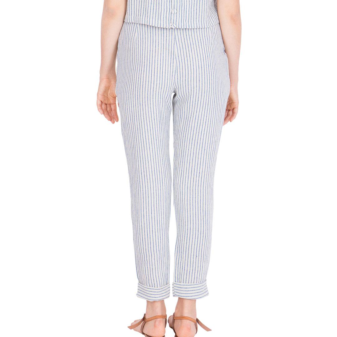 Striped Cotton Pants