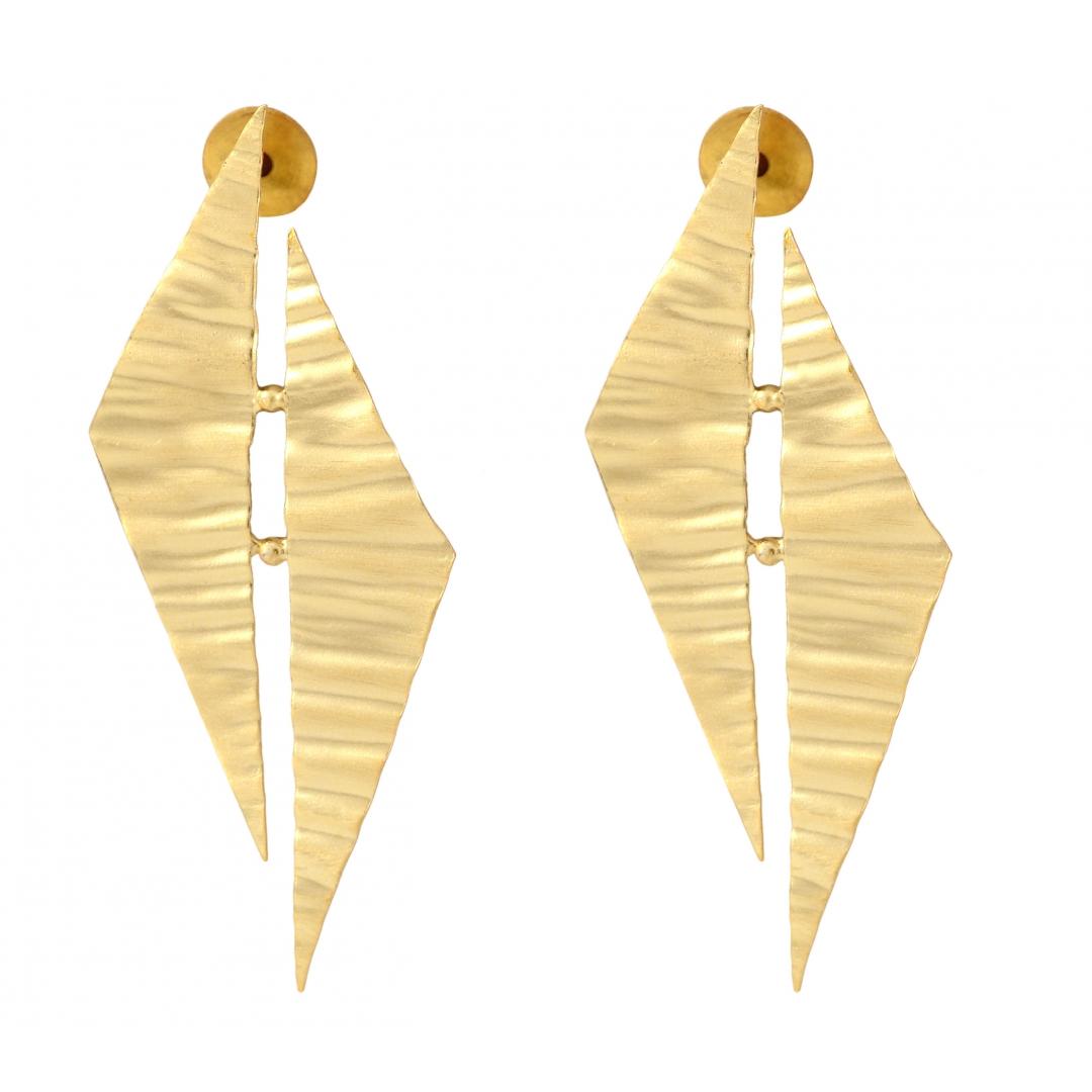 Belsis bold metal foil earrings