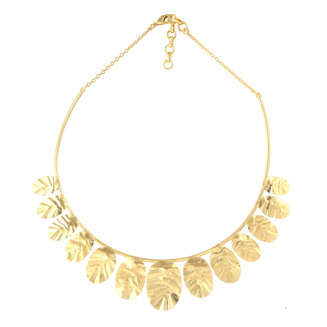 belsls handbitten gold tone  necklace