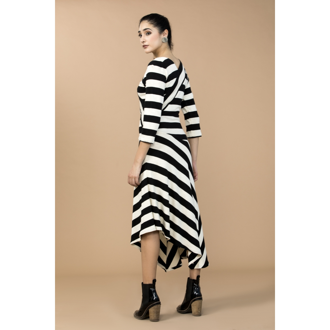 Bold Striped Dress Cullte
