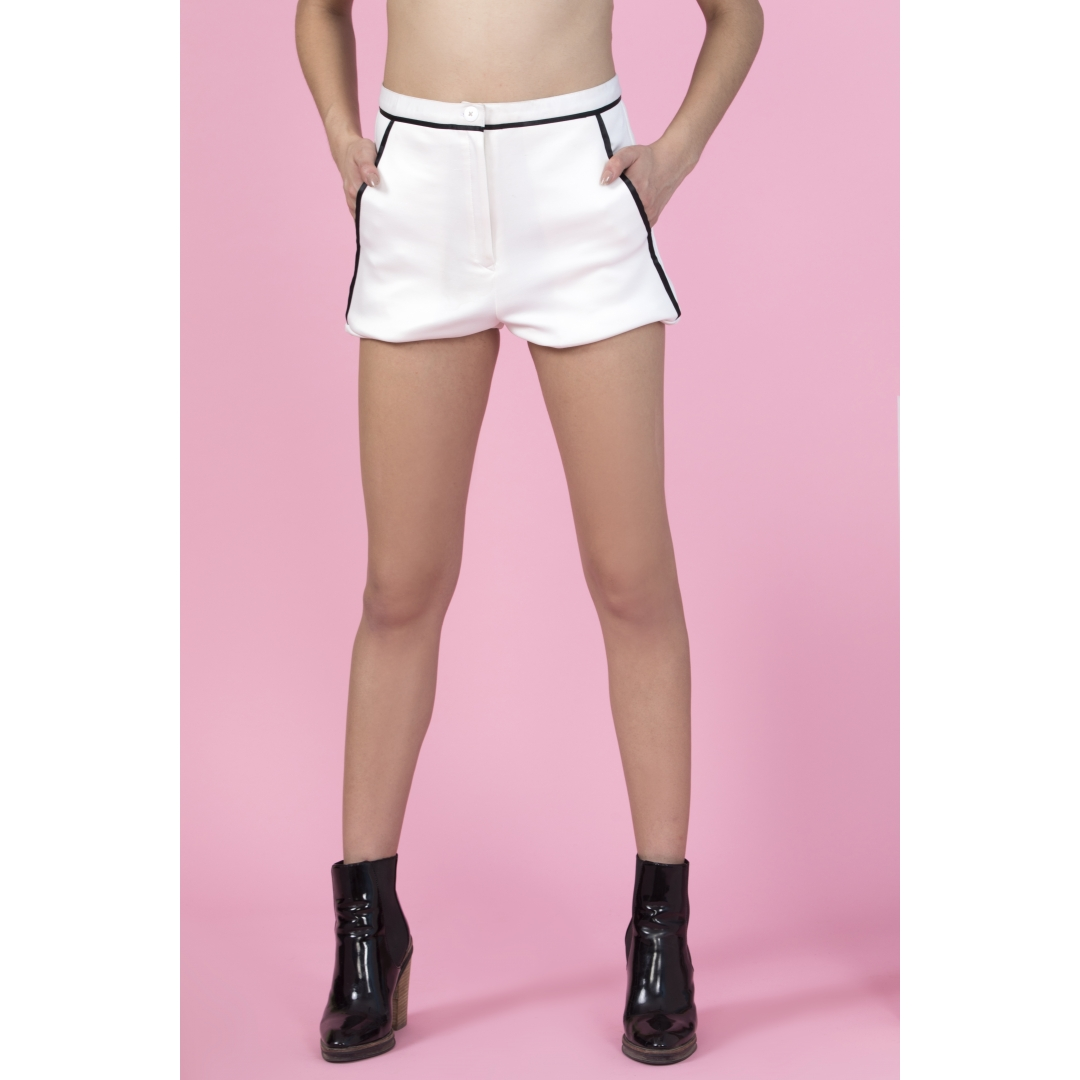 1e2b00db8d63 Buy White Shorts Cullte Online at Best Price in India | GetNatty