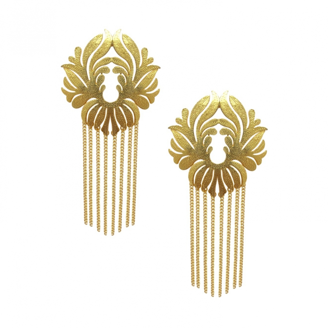 Gold Shoulder Duster Earrings