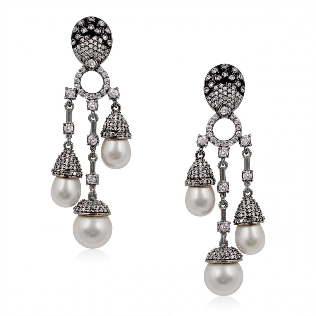 Victorian Hi-Low Earrings