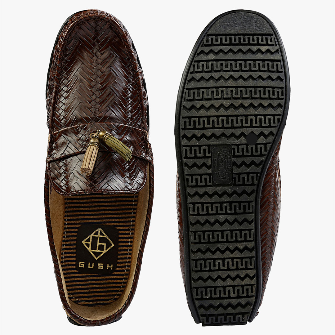 Brown Tangled Loafers