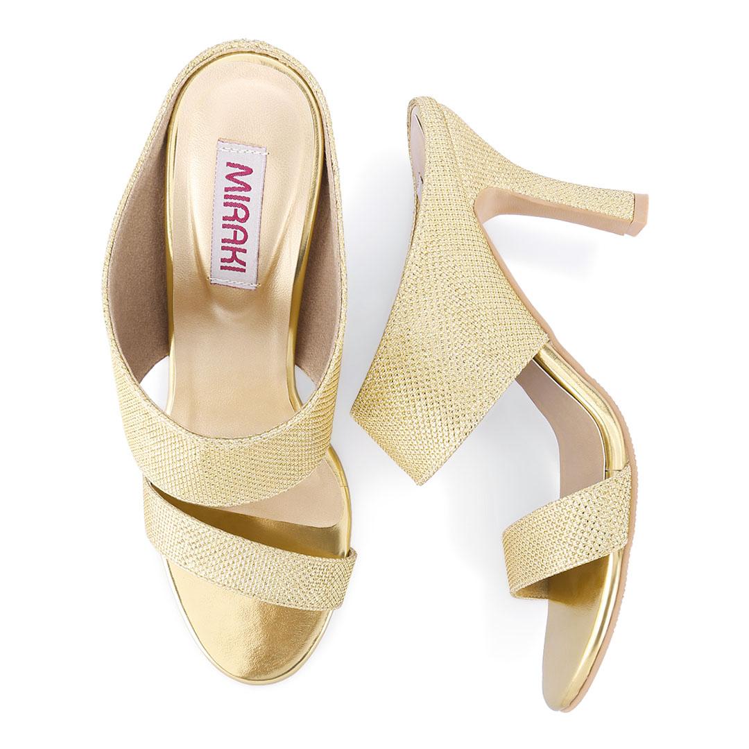 Gold Shimmer Sandals