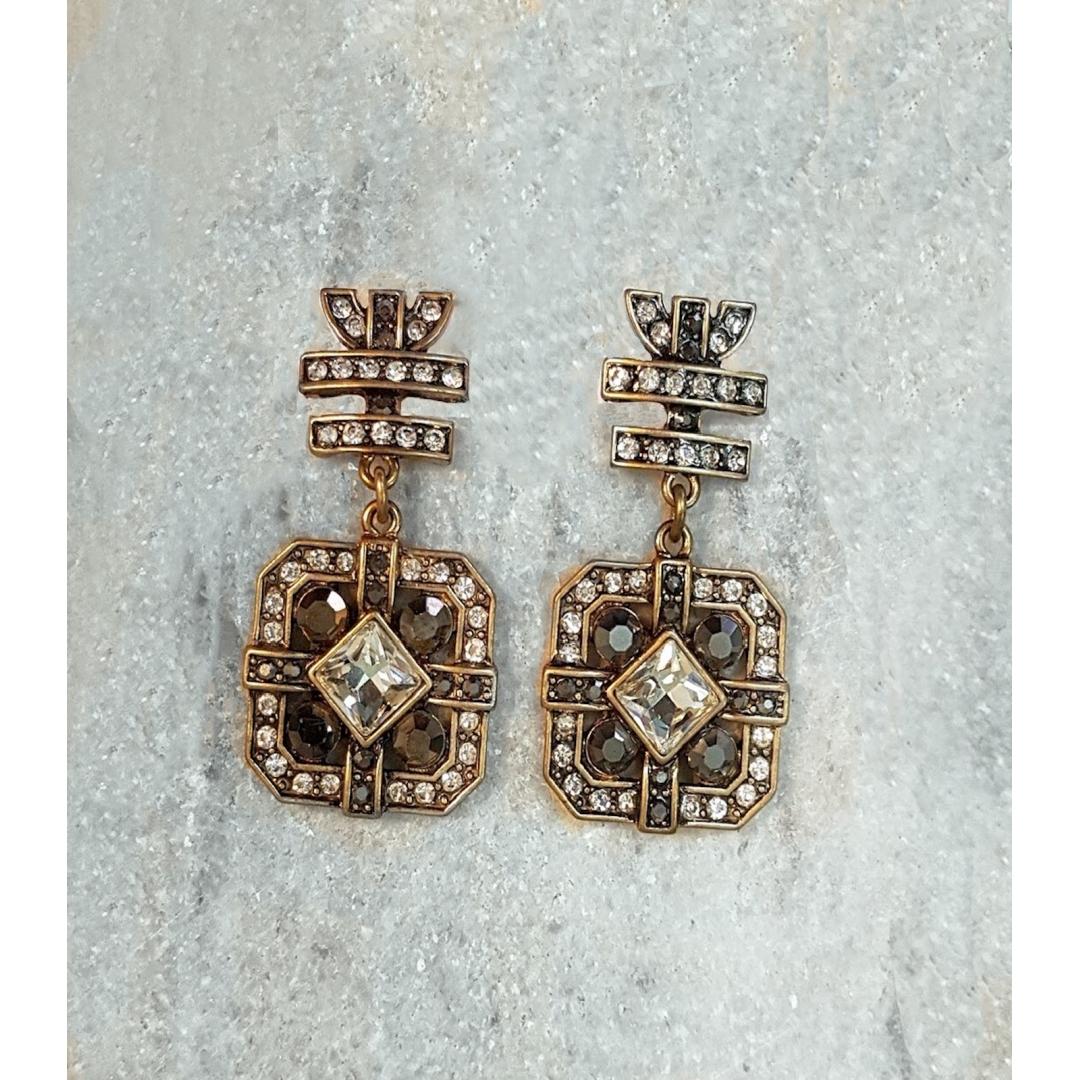 Cocktail Crystal Vintage Earrings