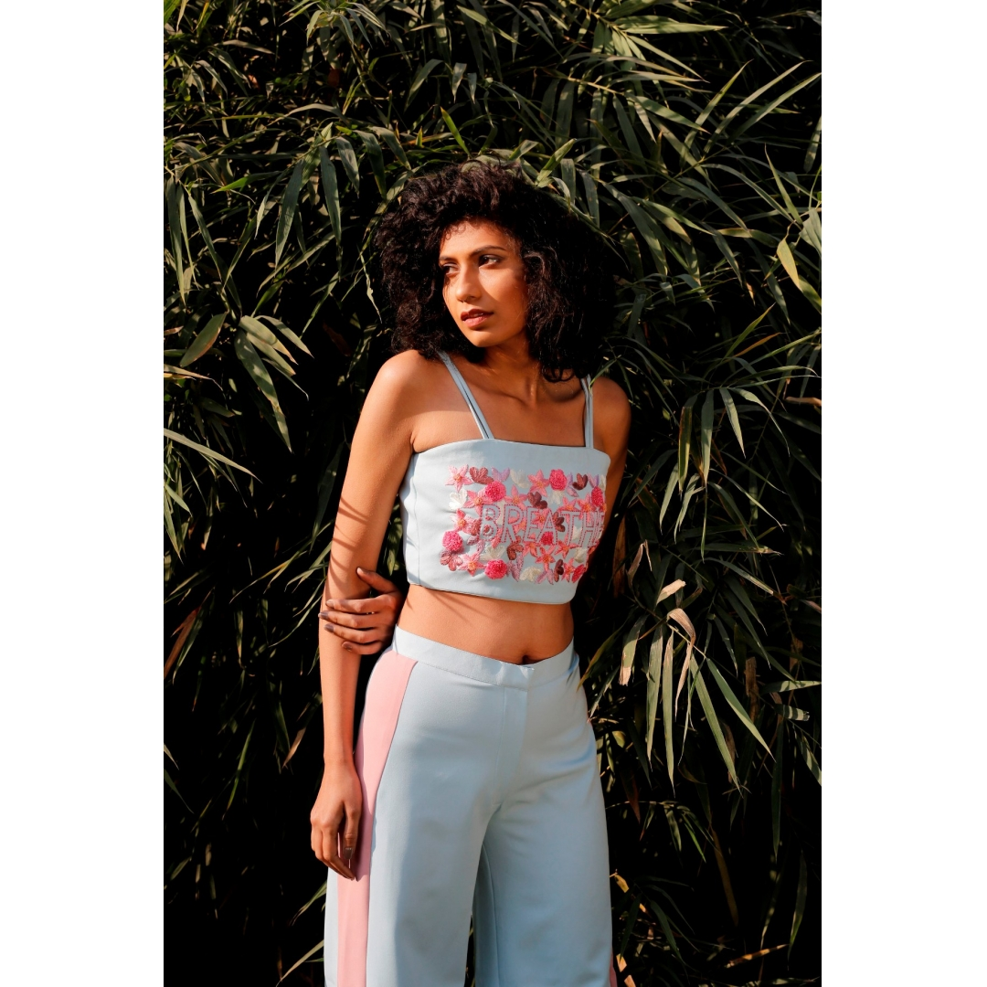 Breathe embroidered top