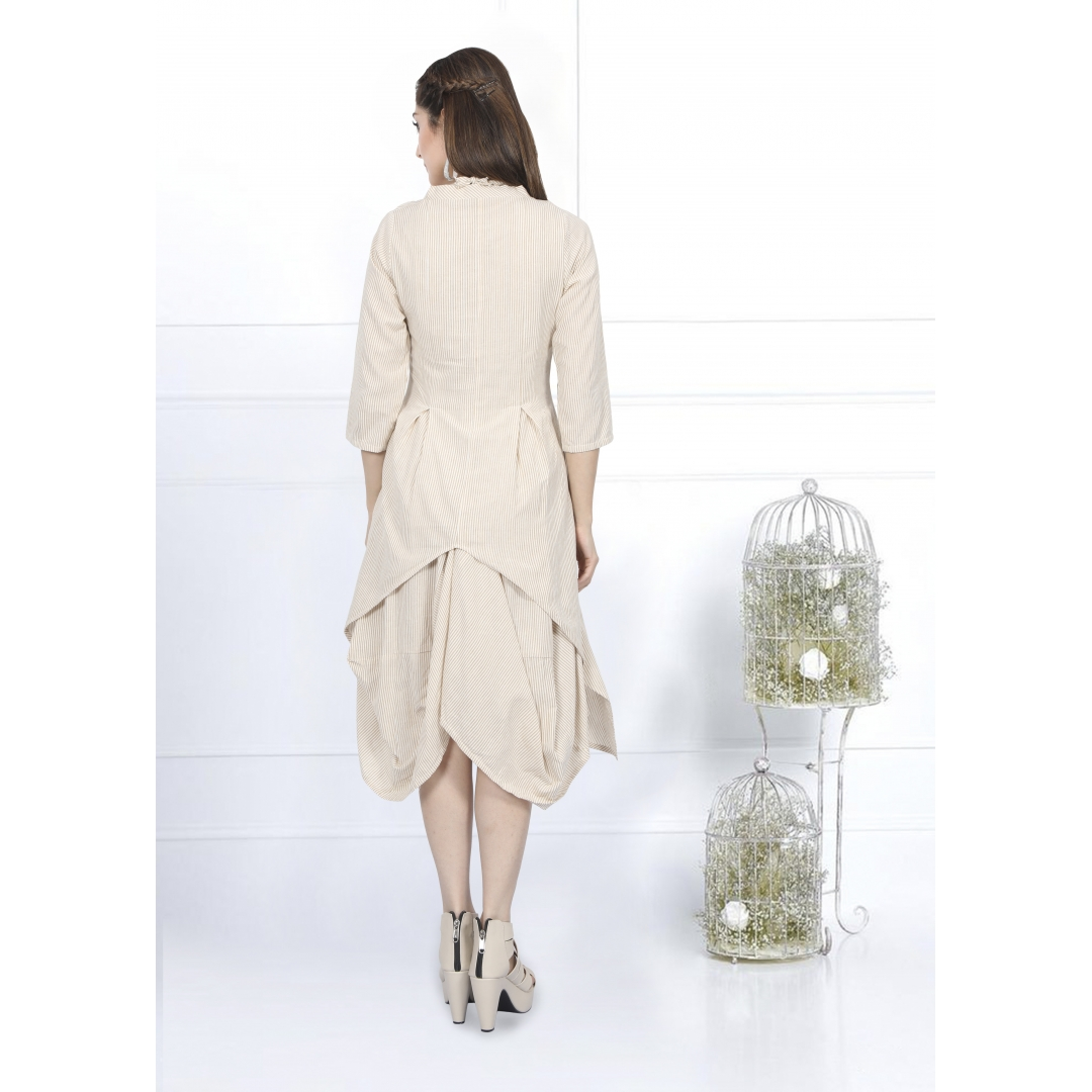 Two Layer Cowl Dress