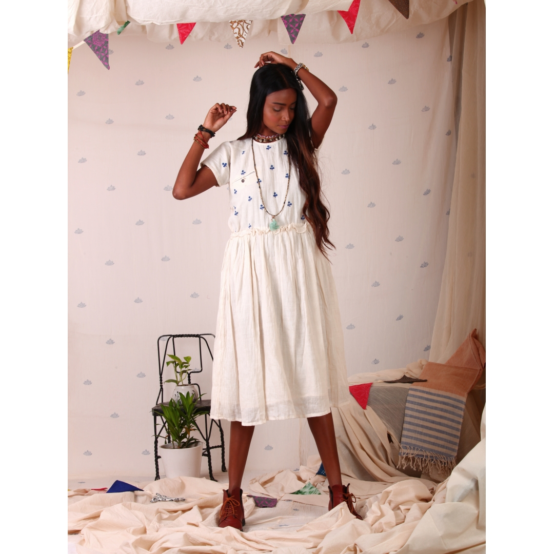 White Muslin dress-1