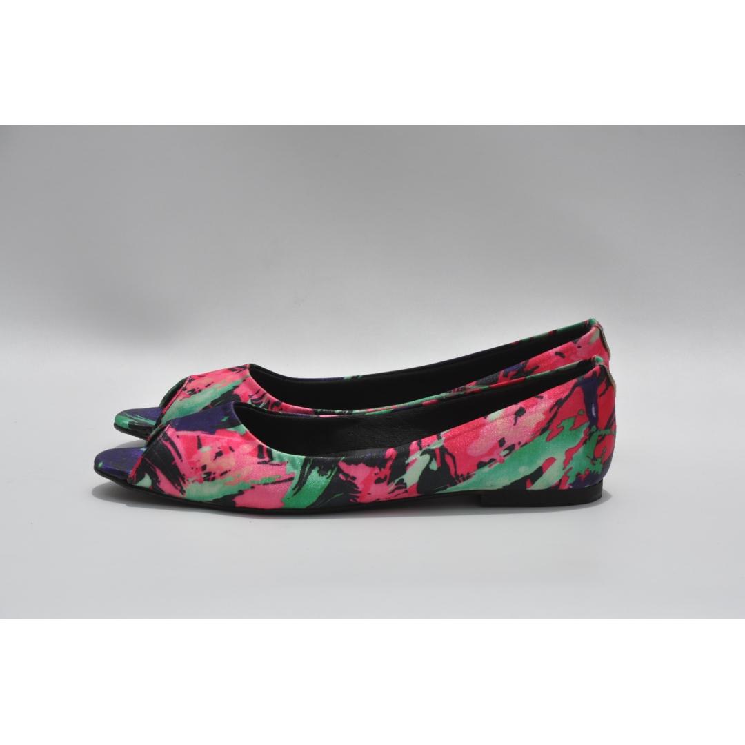 floral peep toes