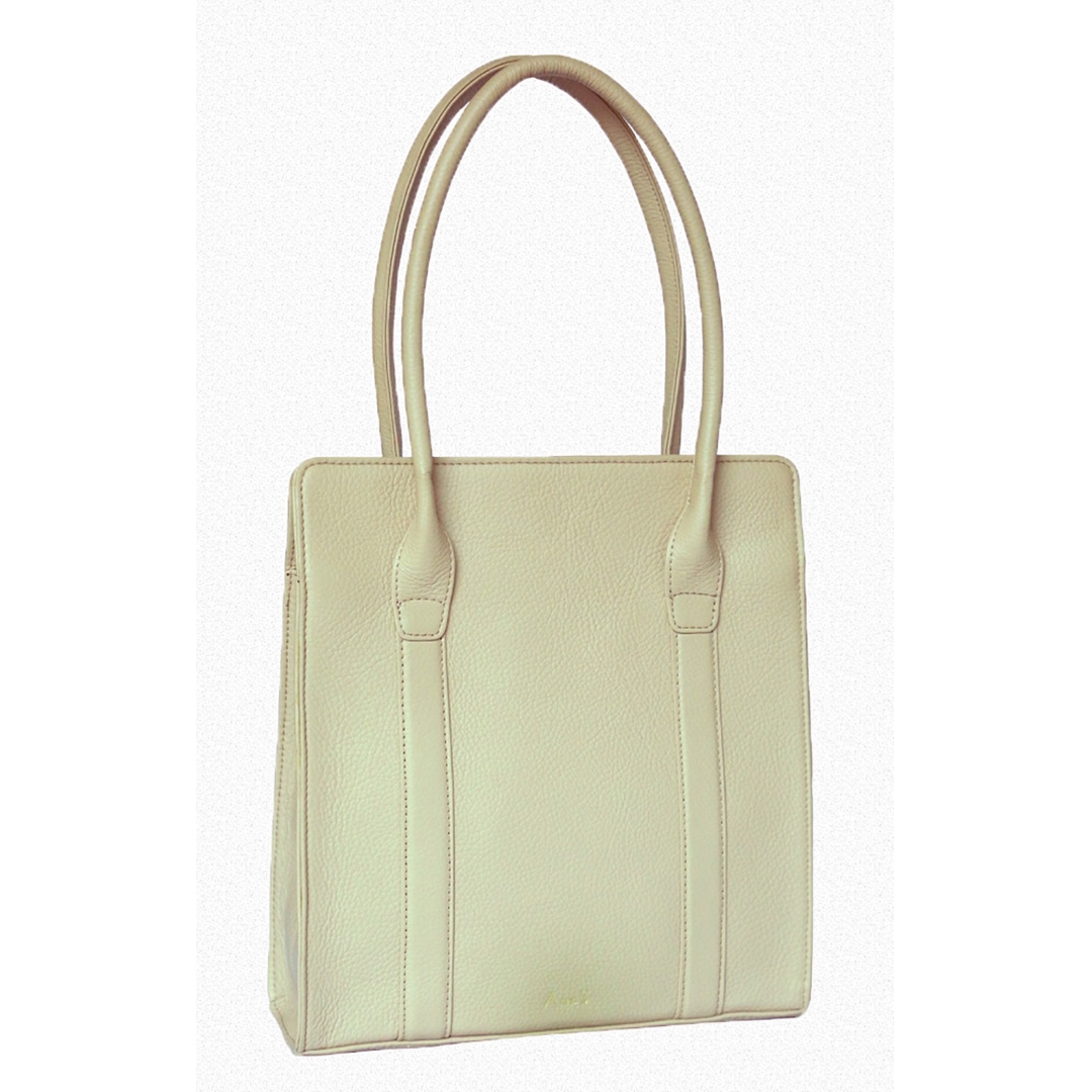 Leather Messenger - Beige