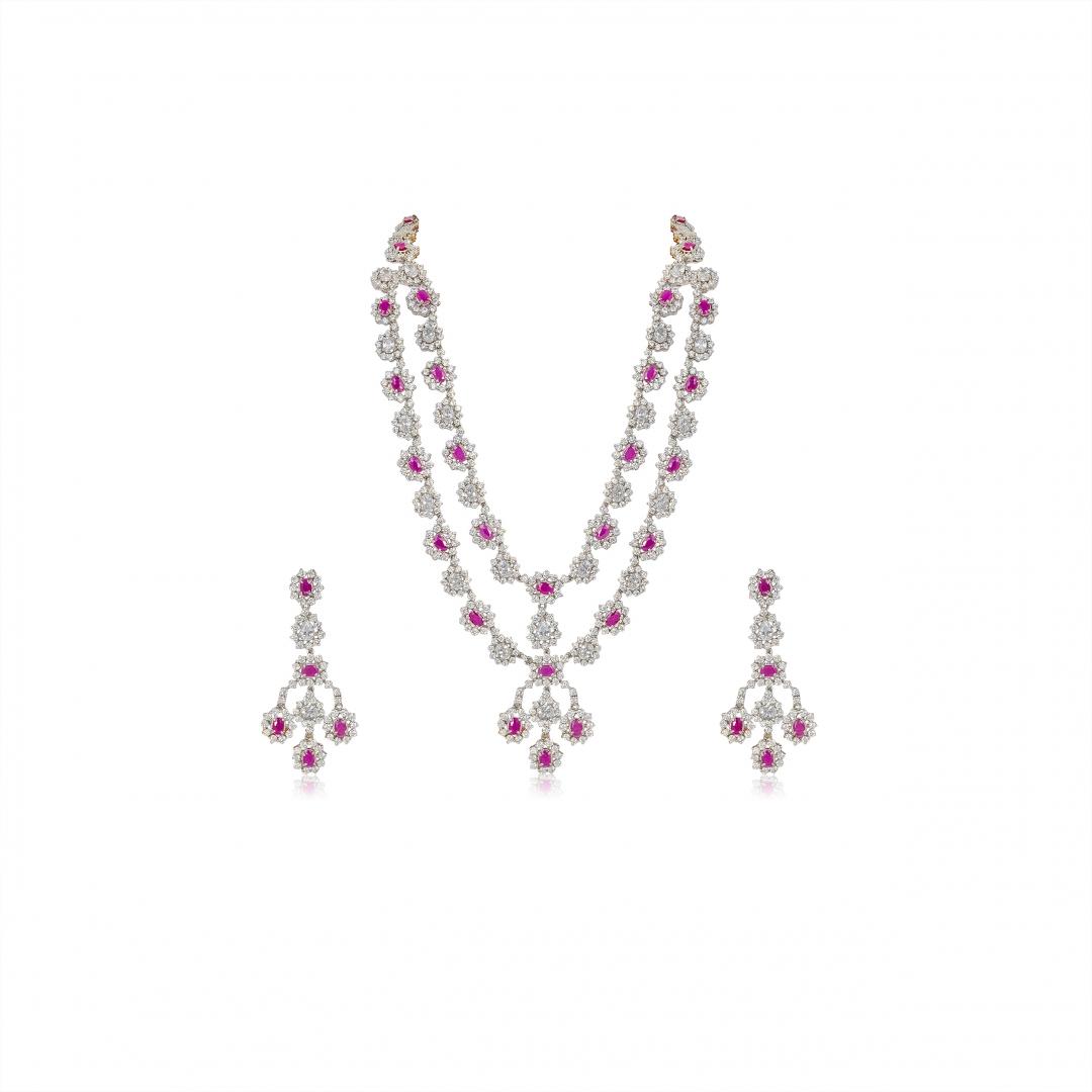 Royal Ruby necklace set