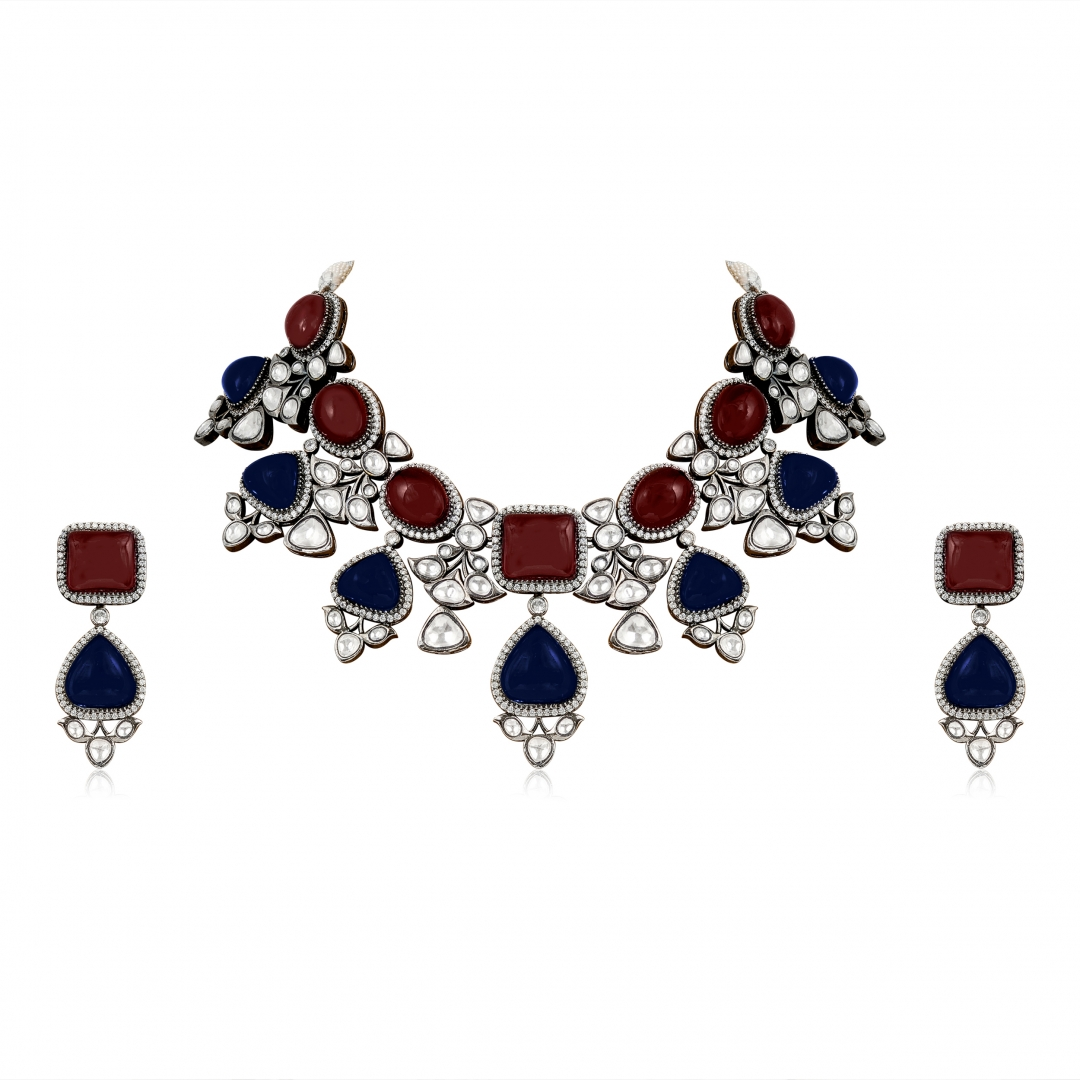 Ruby and Tanzanite Statement Set